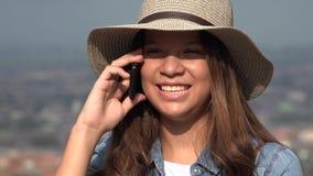 Girl Teen Talking On Cell stock footage