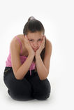 The girl teenager Stock Photo