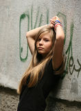 The girl - teenager Stock Images
