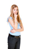 The girl the teenager has reflected Royalty Free Stock Photo