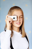 Girl-teenager photographed Royalty Free Stock Photo