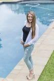 Girl Teenager Pool Stock Photography