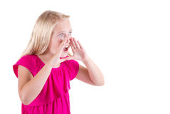 Girl or teenager shouting Royalty Free Stock Photography