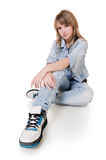 The girl - teenager in studio Royalty Free Stock Image