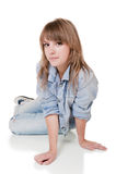 Girl - teenager in studio Stock Image