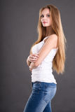 Girl teenager in studio Royalty Free Stock Images