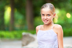 Girl-teenager on summer vacations Stock Photography