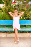 Girl-teenager on summer vacations Royalty Free Stock Images
