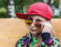 Girl teenager in sunglasses. Royalty Free Stock Image