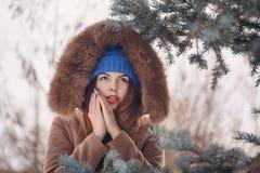 Girl teenager in winter. Stock Image