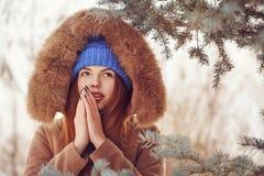 Girl teenager in winter. Stock Photo