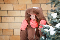 Girl teenager in winter. Royalty Free Stock Photo