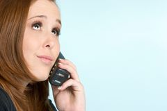 Girl on Telephone Stock Photos