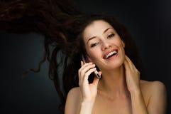 girl telephone Στοκ φωτογραφίες με δικαίωμα ελεύθερης χρήσης