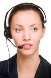 Girl - telephone operator Stock Photography