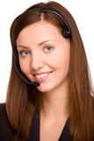 Girl - telephone operator Royalty Free Stock Photos