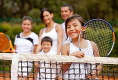 Girl tennis player Stock Photography