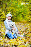 Girl with terrier Royalty Free Stock Image
