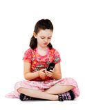 Girl text messaging Stock Photo