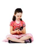 Girl text messaging Stock Photo