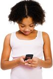Girl text messaging royalty free stock image