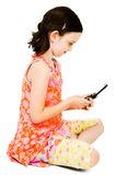 Girl text messaging Stock Photography