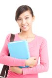 Girl with textbook. Portrait of a teenage student with textbook Royalty Free Stock Photography
