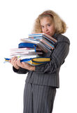 The girl  with textbooks Stock Image