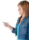Girl texting Royalty Free Stock Image