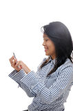 Girl texting Royalty Free Stock Photos