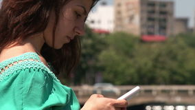 Girl texting Stock Image