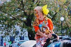 Girl in tgra day in Vladivostok Stock Photography