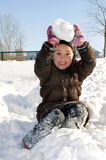 Girl in th snow Royalty Free Stock Photography