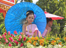 Girl with Thai dress Royalty Free Stock Photo