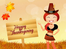 Girl for Thanksgiving Day Royalty Free Stock Image