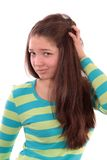 Girl The Teenager. Stock Photo
