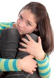 Girl The Teenager, Isolated. Royalty Free Stock Photos