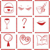 Girl things pattern Royalty Free Stock Photos