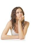 Girl thinker Stock Images