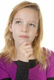Girl is thinking Royalty Free Stock Photos