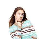 Girl thinking Stock Image