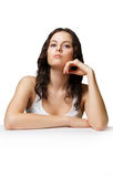 Girl thinking Royalty Free Stock Image