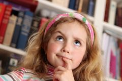 Girl Thinking Royalty Free Stock Image