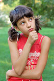 Girl thinking Royalty Free Stock Photography
