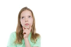 Girl thinking Royalty Free Stock Photos