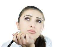 Thinking girl Stock Photos