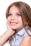 Girl thinking over white Stock Photo
