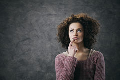 Girl thinking Royalty Free Stock Images