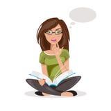 Girl thinking. vector Illustration Stock Photos
