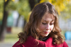 Girl thoughtful autumn Royalty Free Stock Photography